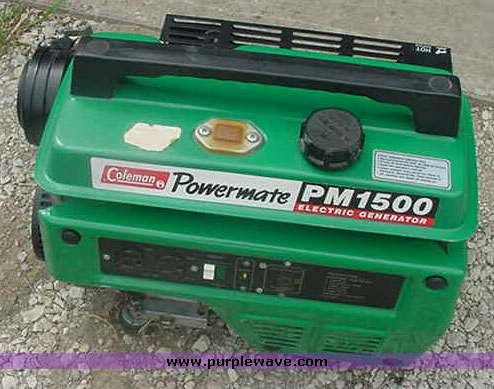 item 5525 sold may 1 manhattan auction purple wave inc rh purplewave com Coleman Powermate Tools Coleman Powermate 3000 Generator
