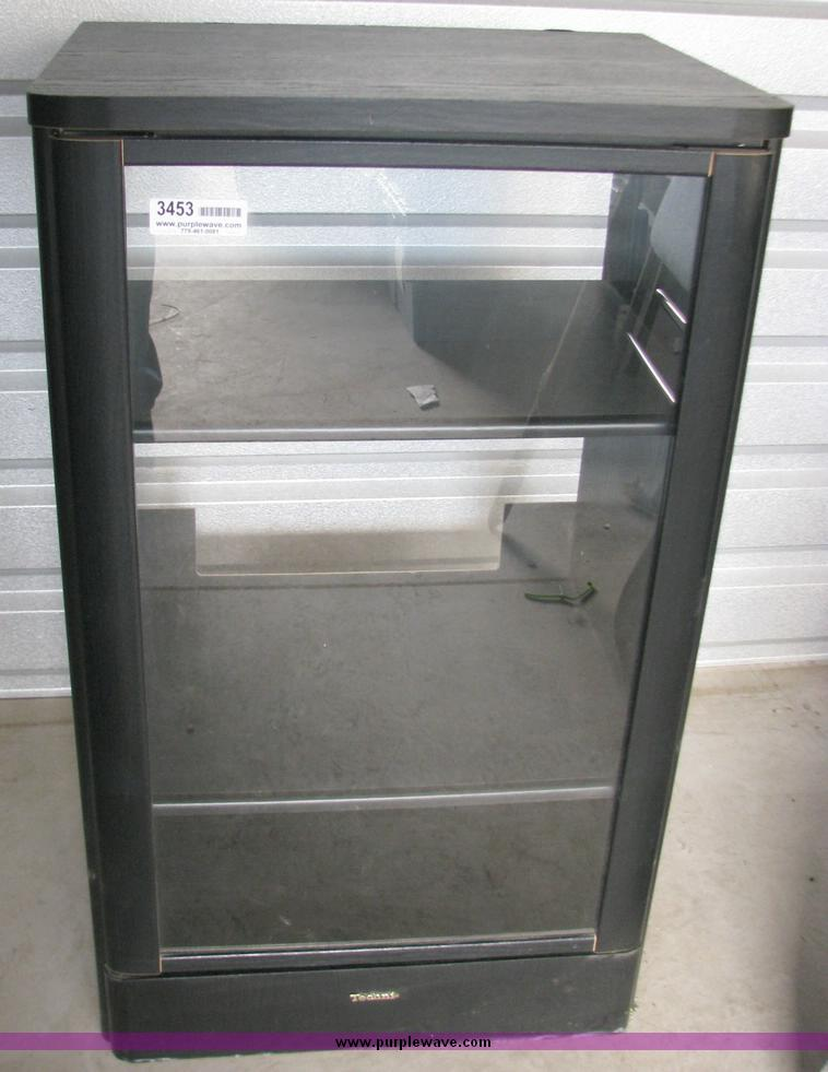 3453 Item Details. 4u0027 Technics Two Shelf Stereo Cabinet With Glass Door