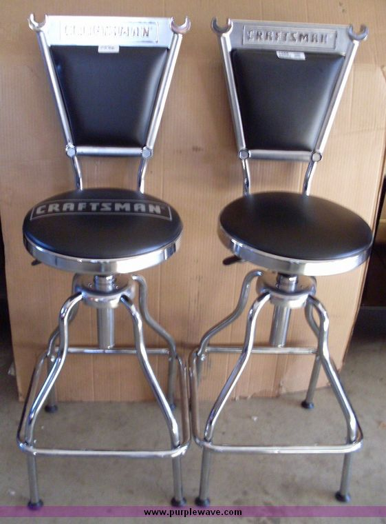 garage shop stool with hotrod. image for item & Garage Stools. Two Checkered Shop Stools And One High Top Table ... islam-shia.org