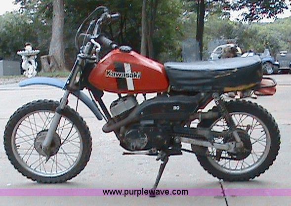 1981 Kawasaki 80cc dirt bike | Item 1504 | SOLD! September 2...