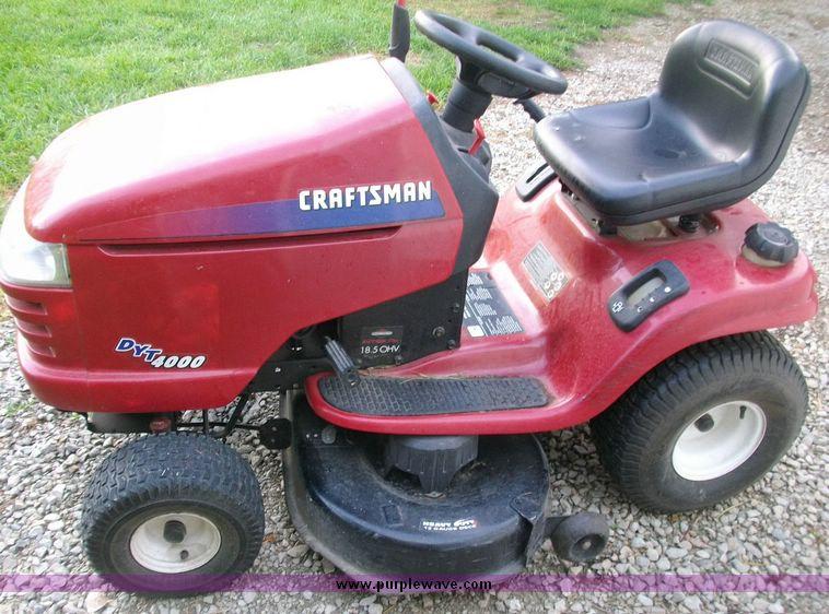 Craftsman 4000 Riding Lawn Mower : Craftsman dyt riding lawn mower item