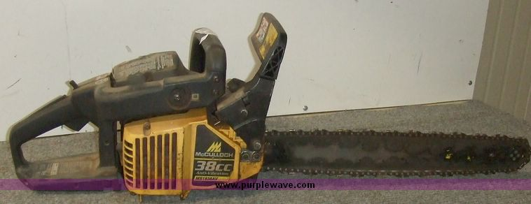 Mcculloch chainsaw   Item 6029   SOLD! October 6 Government