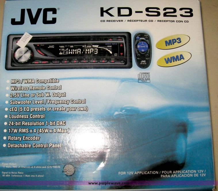 JVC KD-S23 WMA/MP3/CD player/receiver | Item 6339 | SOLD! Oc