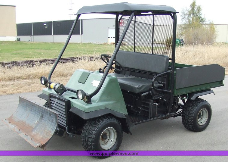 Kawasaki Mule 2510 with blade and hoist | Item 6522 | SOLD! ...