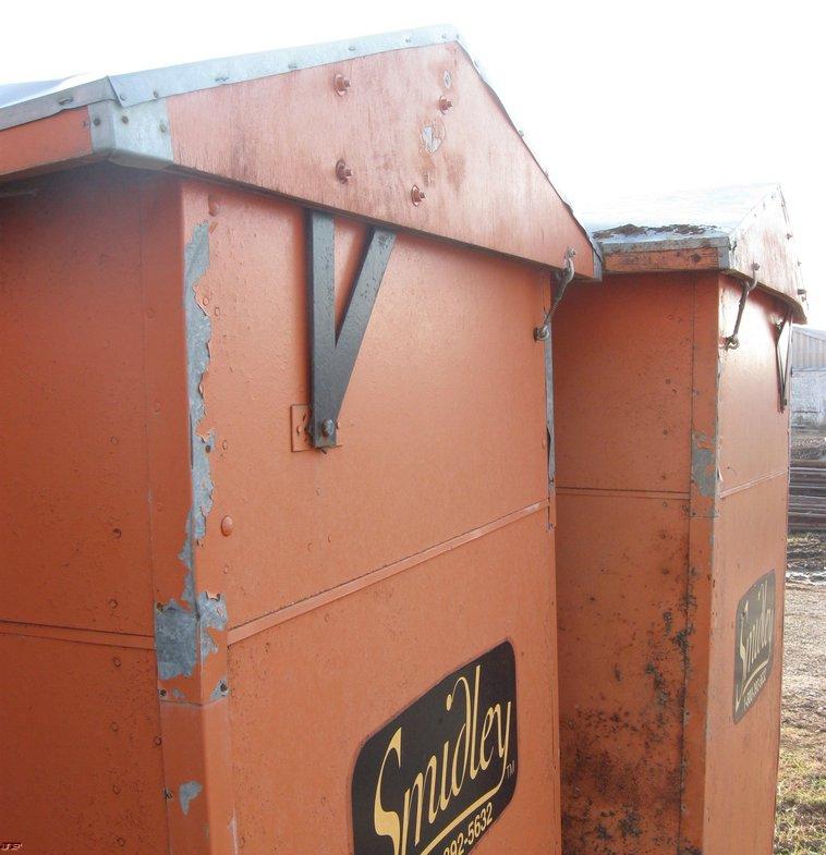 2) Smidley wood hog feeders | Item 3074 | SOLD! December 8