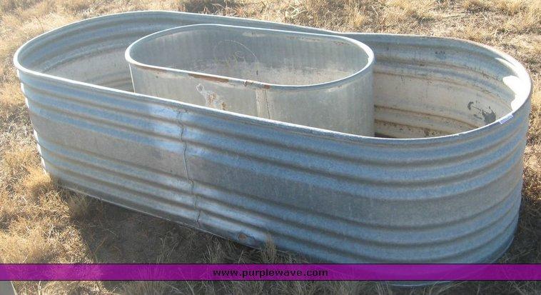 2) oval galvanized stock tanks | Item 3645 | SOLD! December