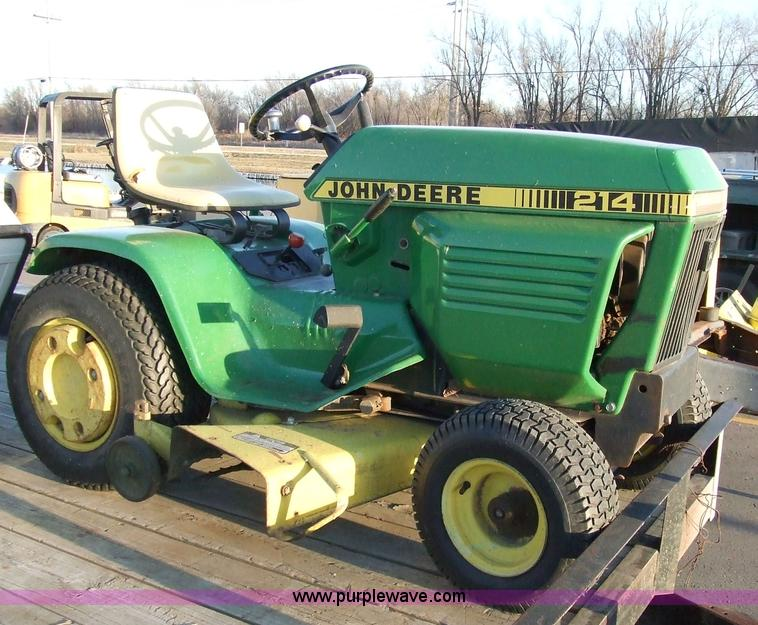 John Deere 214 Riding Lawn Mower With Attachments Item