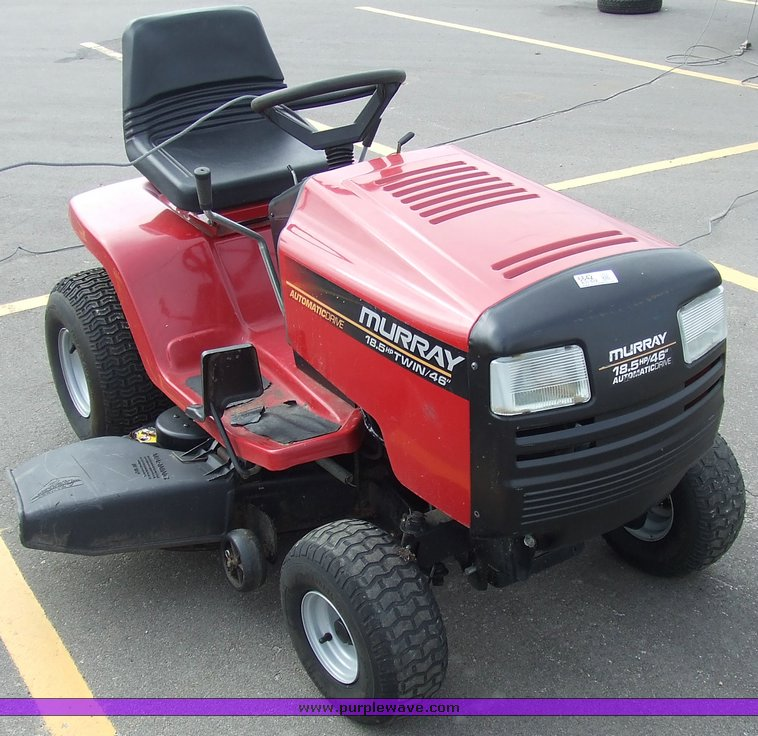 Murray Lawn Tractor Hydrostatic Transmission : Murray quot cut wide body lawn tractor item sol