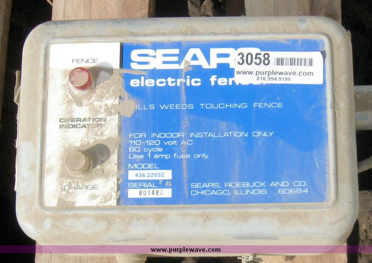 image for item sears 110 volt electric fence charger