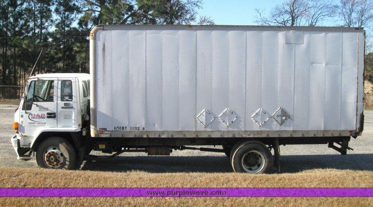 1990 Gmc 7000 W7 Cab Forward Box Truck Item 5672 Sold M