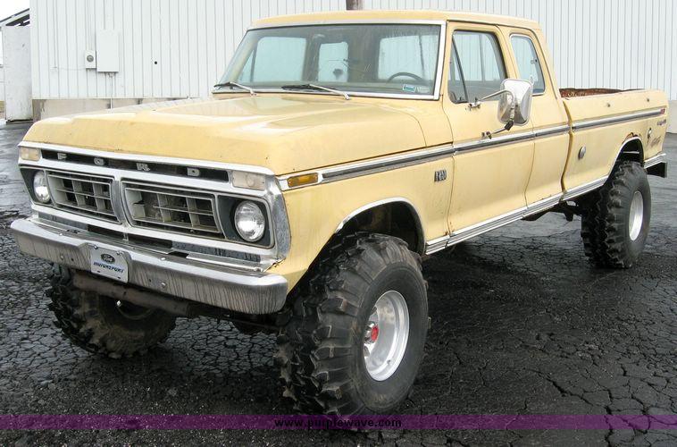 1975 ford f250 ranger xlt super cab pickup truck item. Black Bedroom Furniture Sets. Home Design Ideas