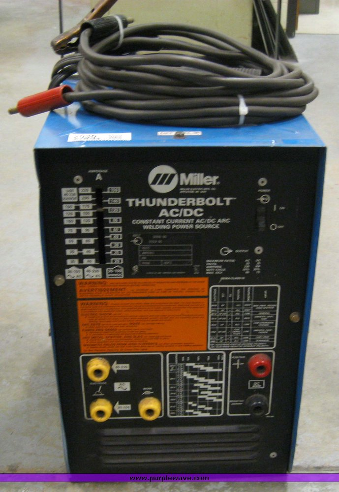miller thunderbolt ac dc arc welder item 2030 sold apri rh purplewave com Miller Roughneck 1E Manual Miller Roughneck 1E Manual