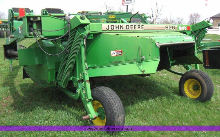 1995 John Deere 920 mower conditioner | Item 2147 | SOLD! Ap