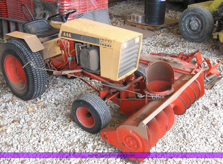 case 446 garden tractor with seven attachments item 3416 rh purplewave com