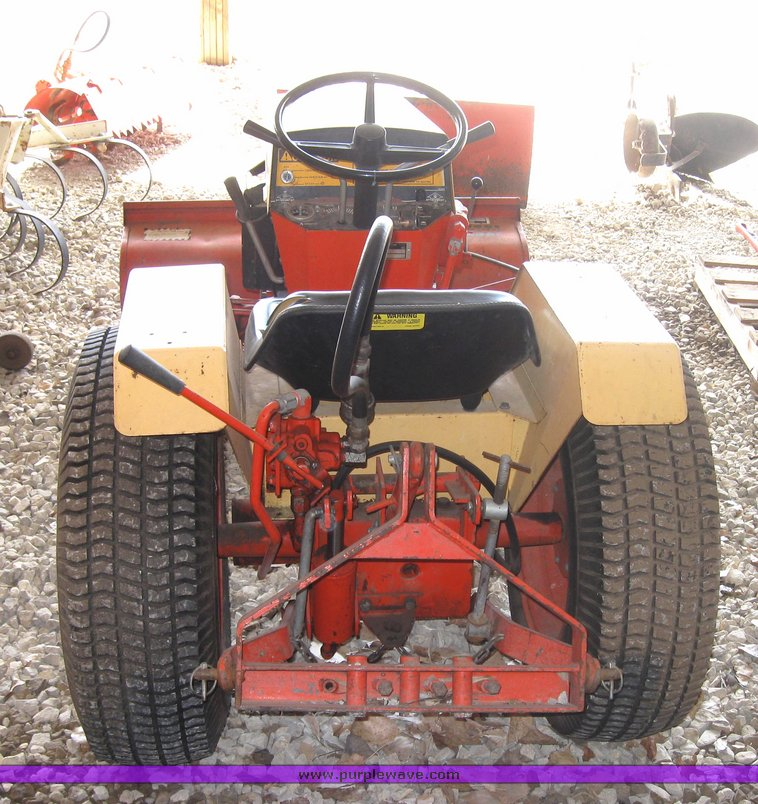 ... 3416 Image For Item 3416 Case 446 Garden Tractor With Seven Attachments