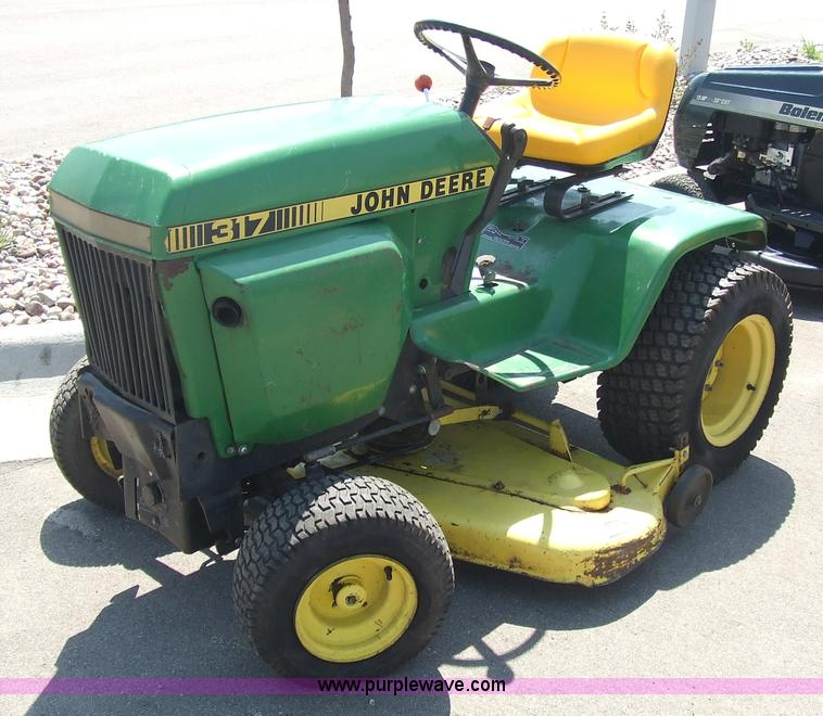 John Deere 317 Garden Tractor Item 6839 Sold April 29 M