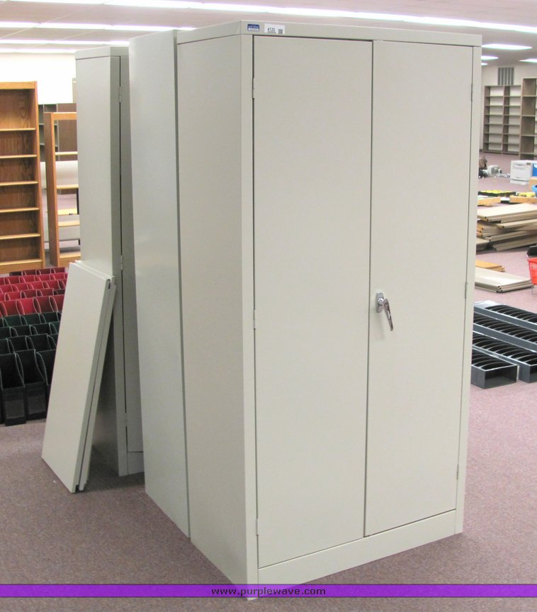 3 Two Door Metal Storage Cabinets Item 4120 Sold May