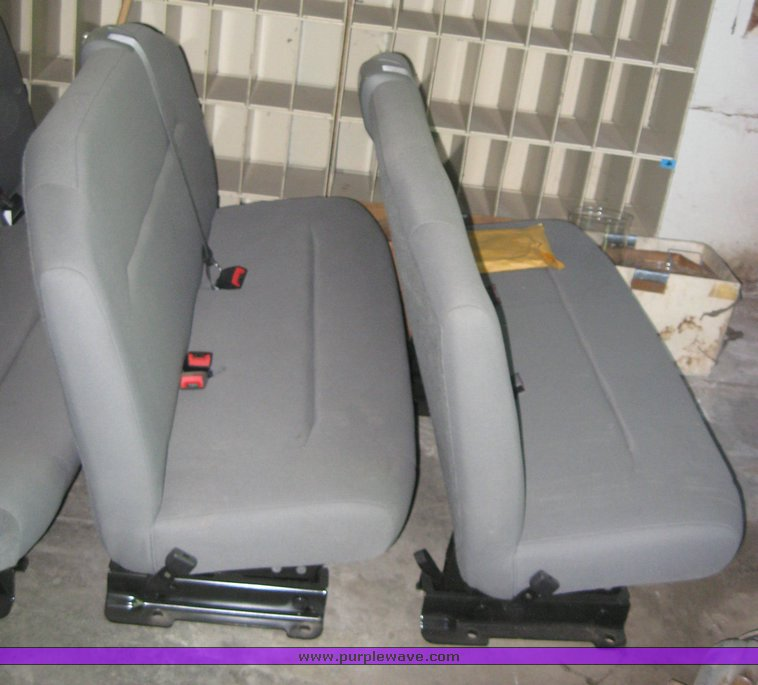 4) 2009 Ford E350 gray van bench seats | Item 2001 | SOLD!