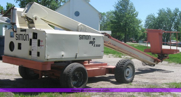 simon mpl60 boom lift item 2250 sold may 27 constructio rh purplewave com Aerial Lift Inspection Form Aerial Lift Training