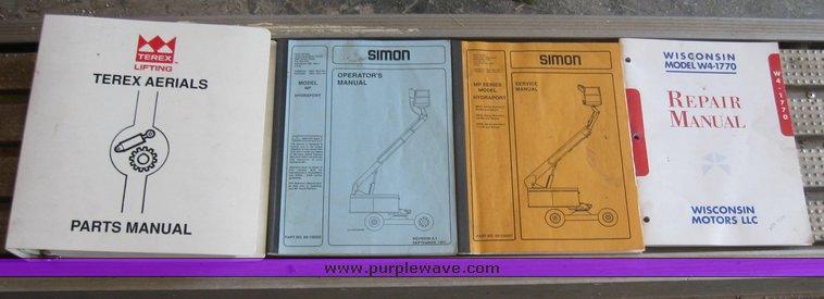 simon mpl60 boom lift item 2250 sold may 27 constructio rh purplewave com Aerial Lift Platform Genie Aerial Lifts Manuals