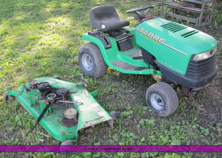 John Deere Sabre >> 1995 John Deere Sabre Lawn Tractor With Mower Attachment I