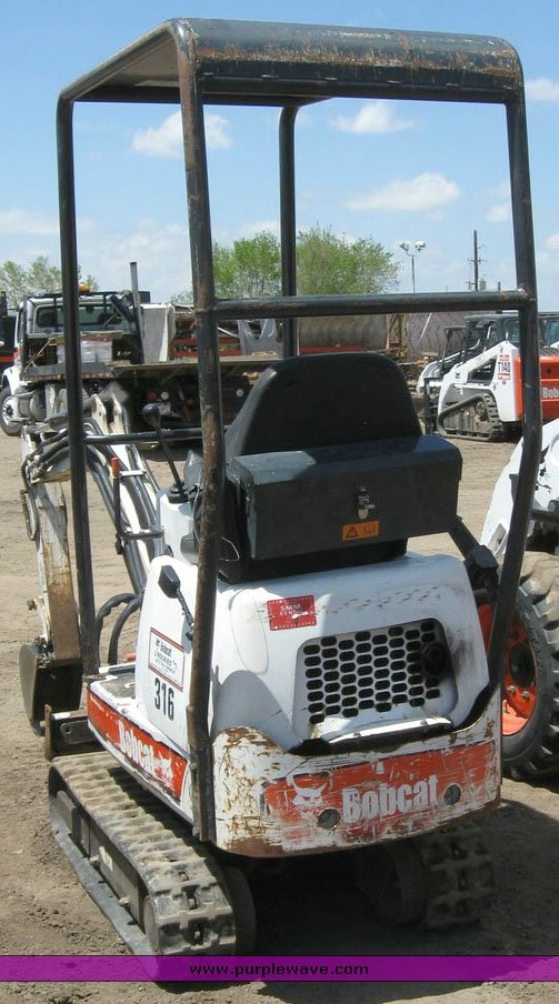 2003 Bobcat 316 Mini Excavator In Commerce City Co Item 6747 Sold Purple Wave
