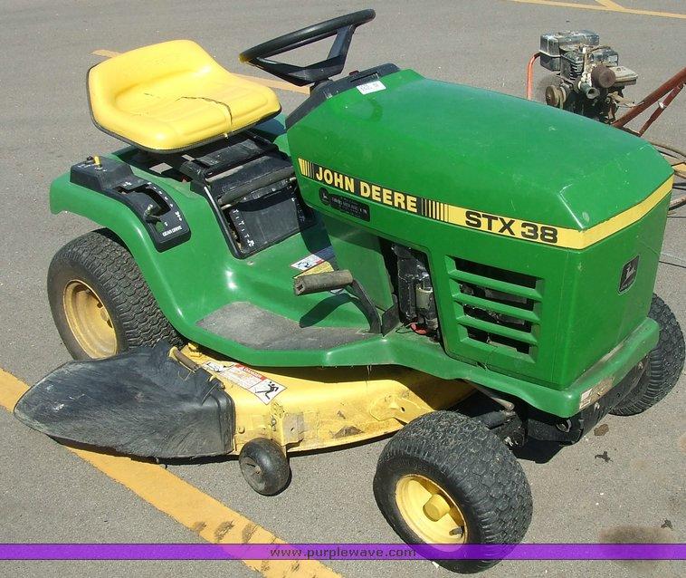 John Deere Stx 38 : John deere stx riding mower item sold june