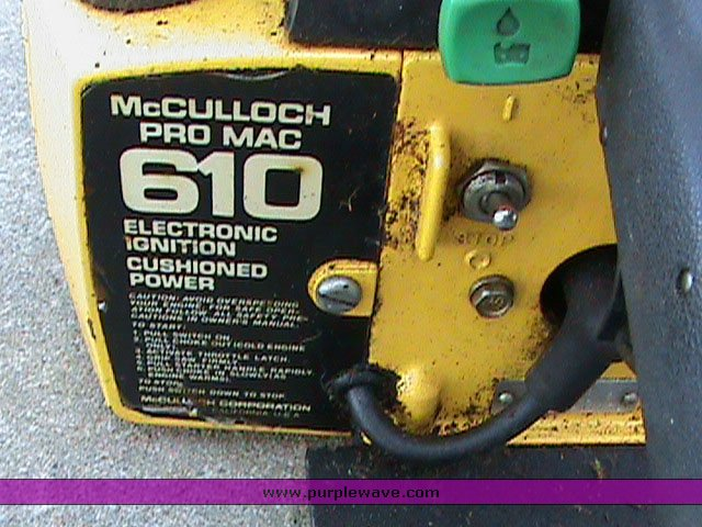 mcculloch pro mac 610 chain size