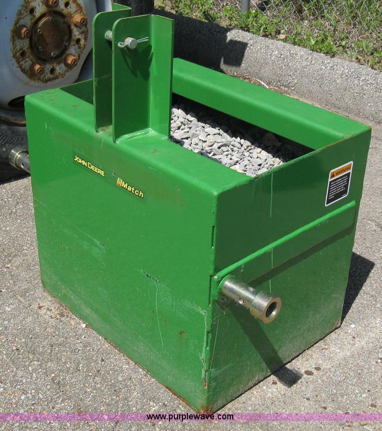 3 Point Ballast Box : John deere imatch ballast box item sold june