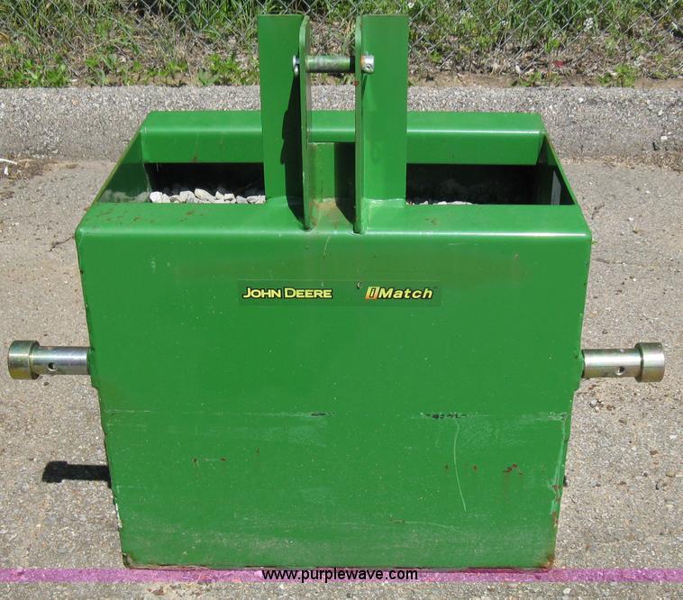 Tractor Ballast Box : John deere imatch ballast box item sold june