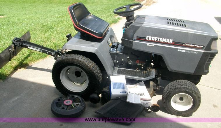 craftsman gt6000 44 u0026quot  lawn mower