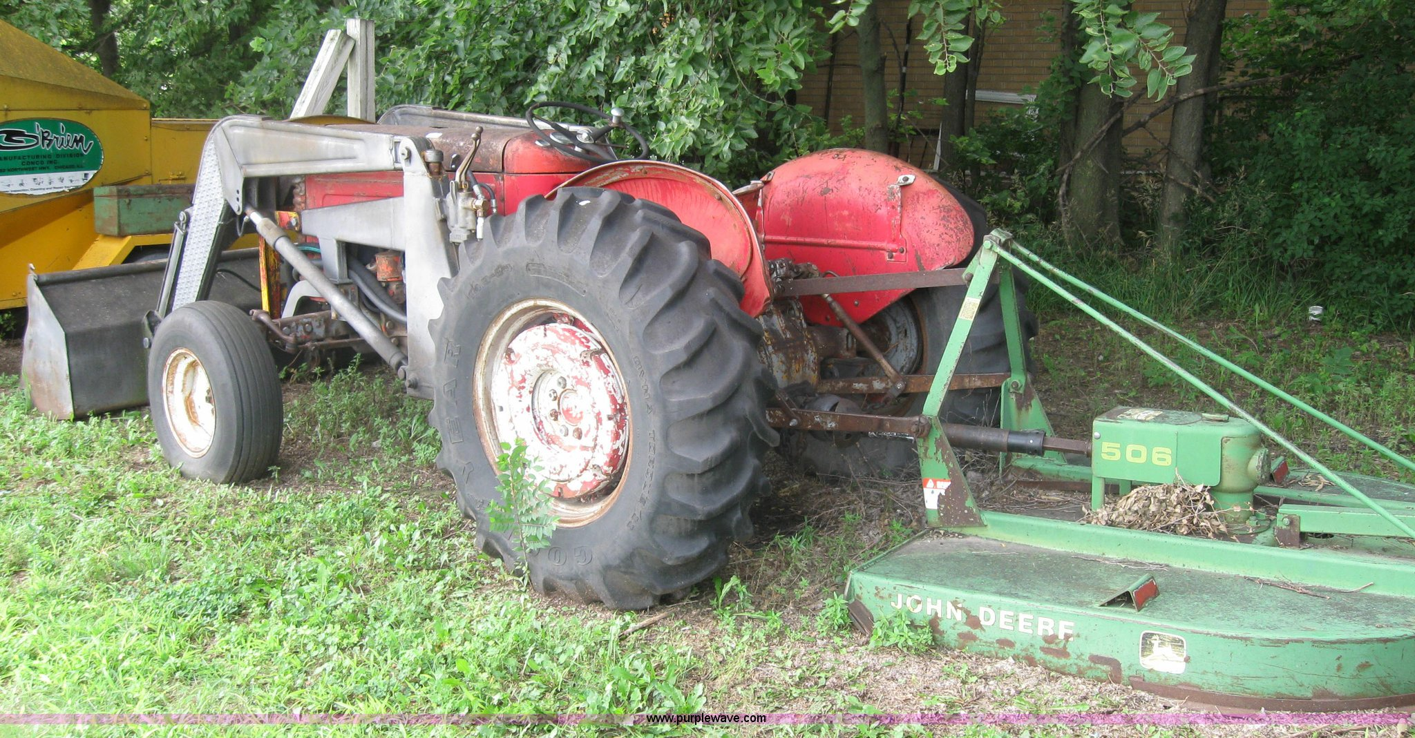 Massey-Ferguson 50 tractor with front end loader and mower |