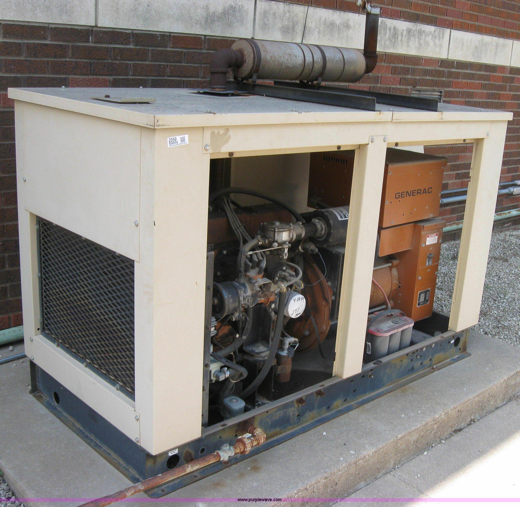 Generac 20 K W generator with transfer switch   Item 2050  
