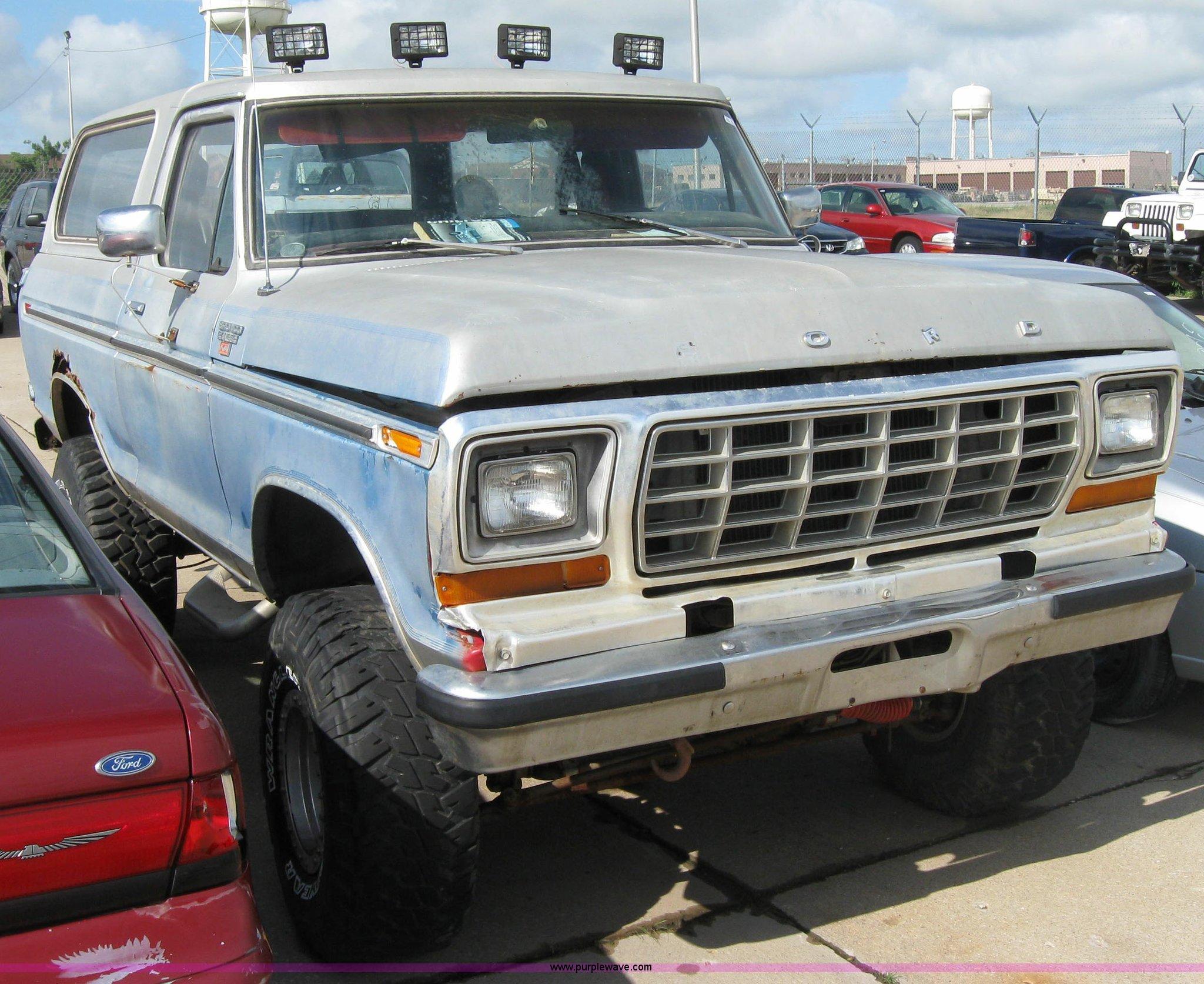 1979 Ford Bronco Ranger XLT | Item 2224 | SOLD! August 11 Ft...