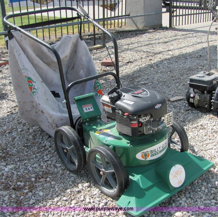 4766 Image For Item Billy Goat KD612 Lawn Vacuum With Bagger