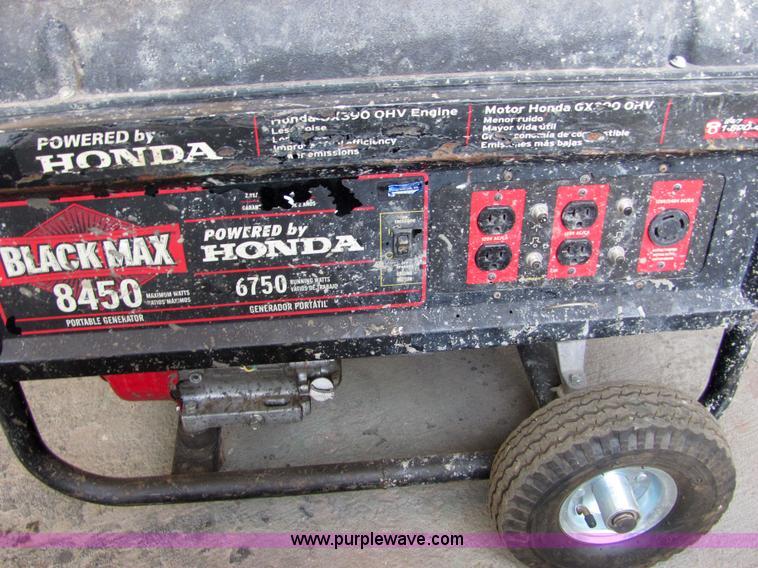 Black Max 8450 portable generator | Item 4799 | SOLD! August
