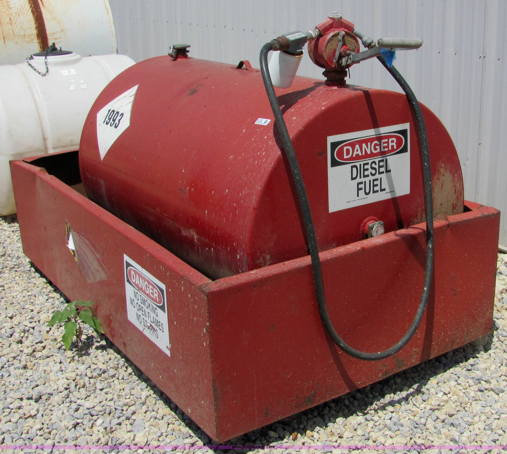 We mac 300 gallon fuel tank and containment item 4745 for New construction windows for sale