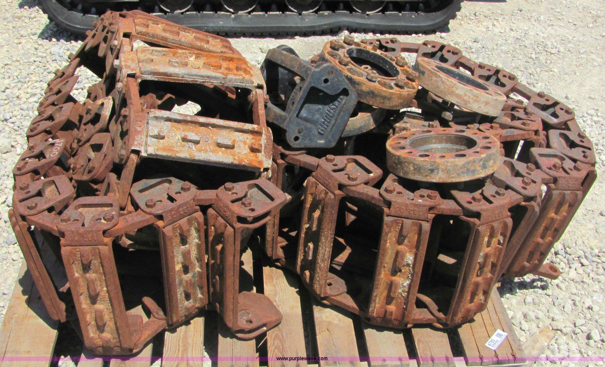Grouser Steel Skid Steer Tracks Item 4780 Sold August 3