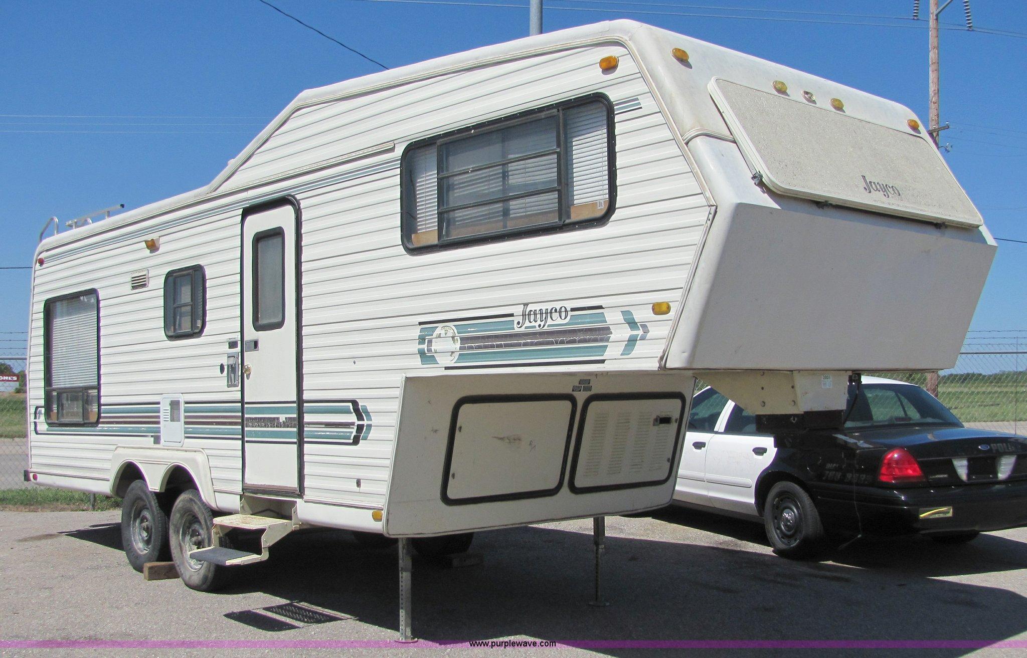4883 Image For Item 1984 Jayco Jay Crane 26 Fifth Wheel Camper