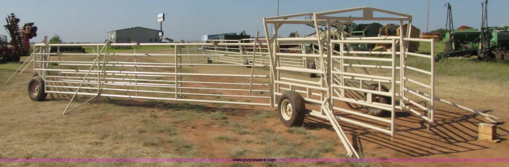 Portable Corral Systems For Horses : Wilson portable corral system item sold