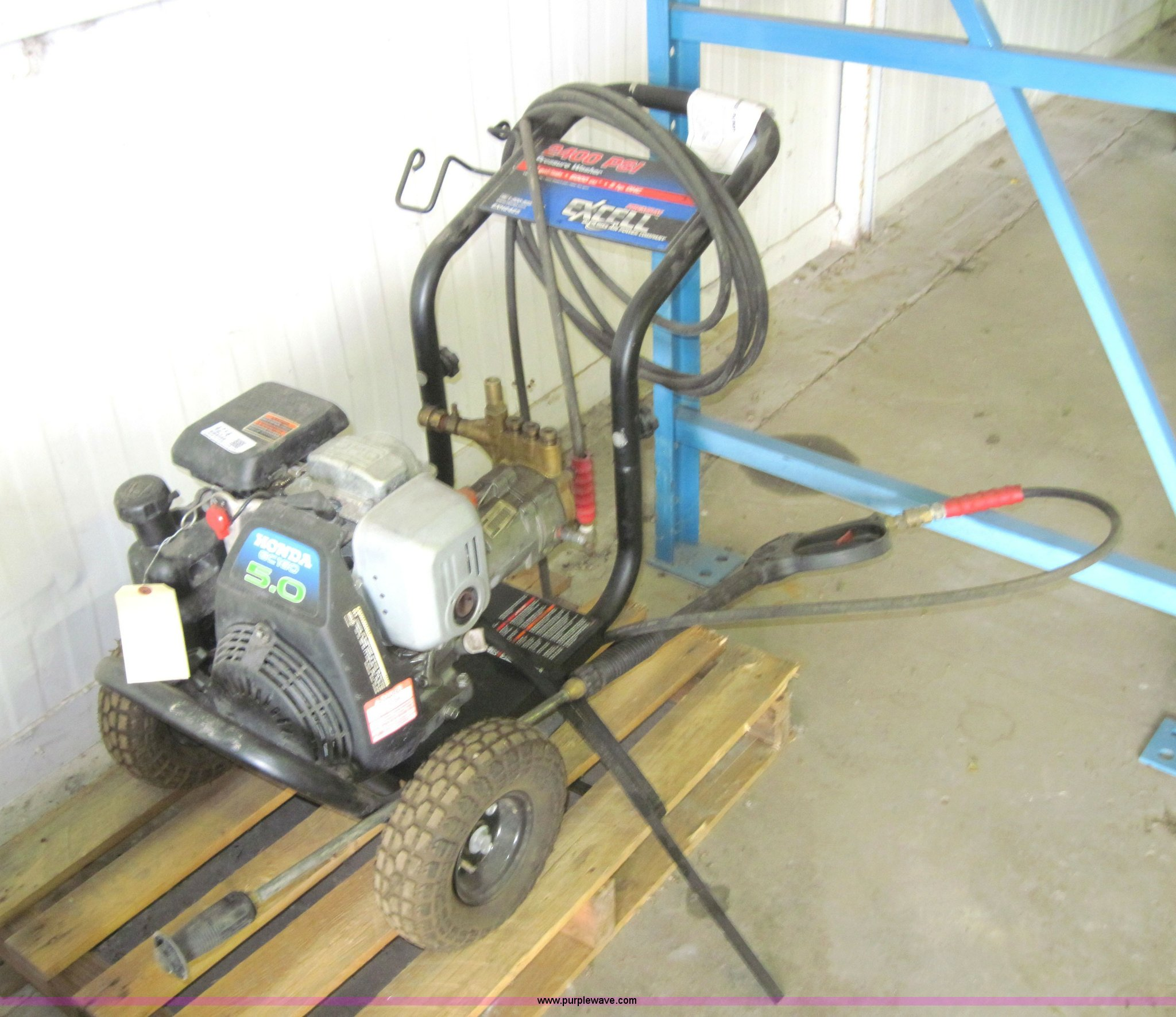 excell 2400 psi power washer item 4214 sold september 2