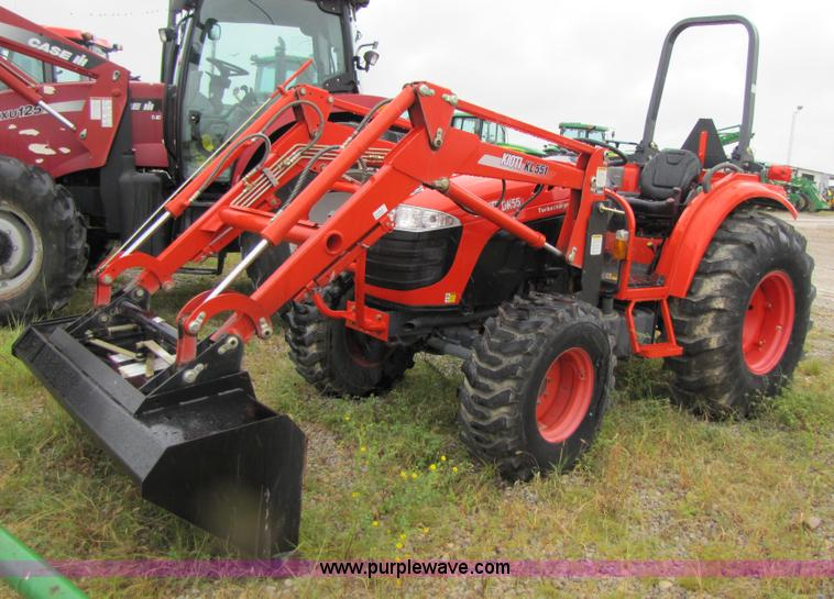 2008 Kioti DK55 tractor with loader | Item 3190 | SOLD! Sept