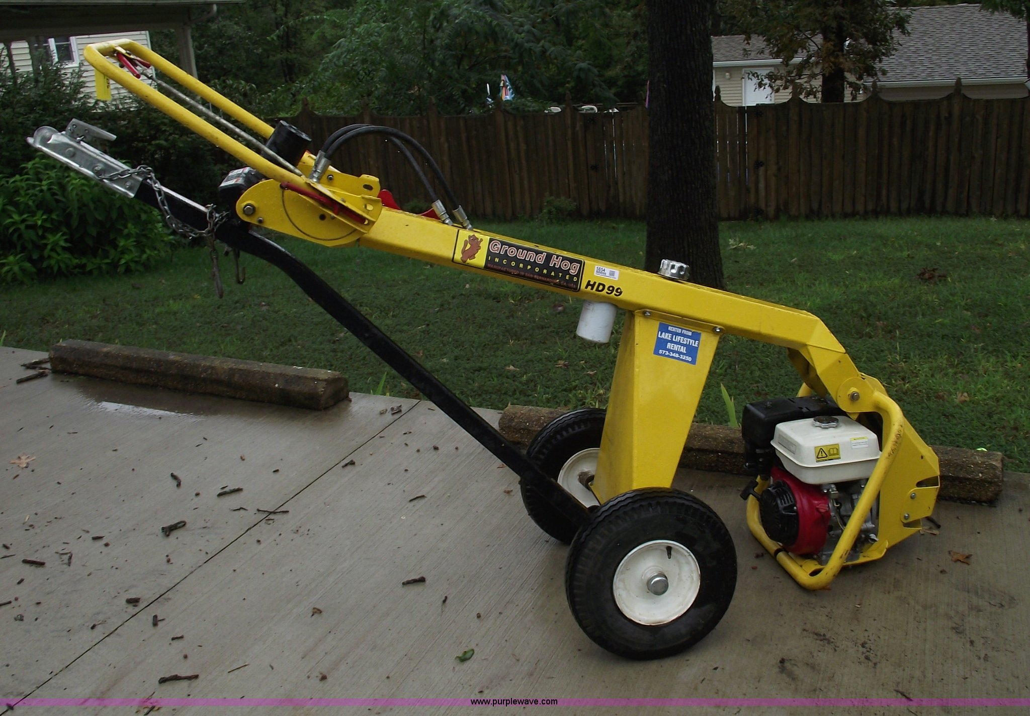 Ground Hog HD99 towable auger | Item 5854 | SOLD! September