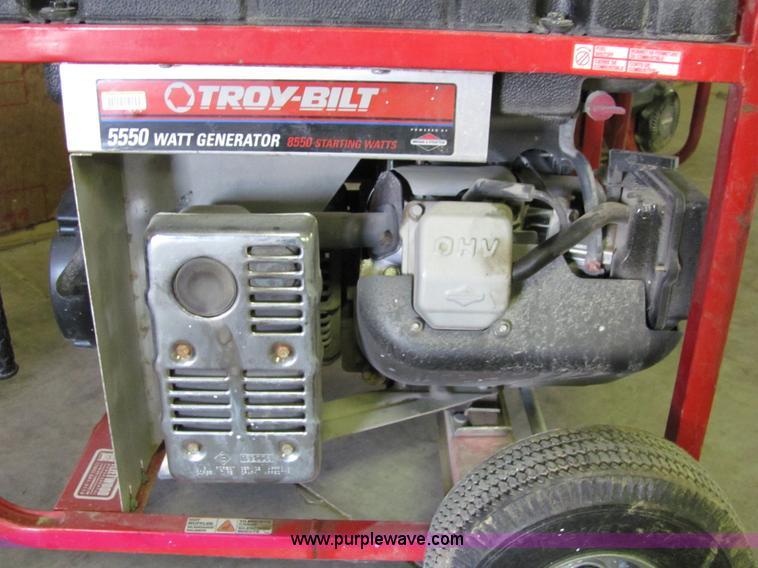Briggs Lawrence Ks >> Troy-Bilt 5550 watt portable generator | Item 2265 | SOLD ...