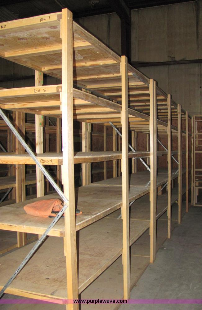image for item 3 sections of wood shelving units