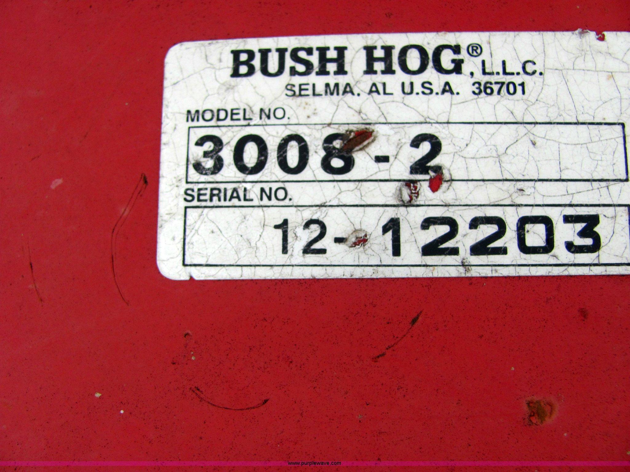 Bush Hog 3008 2 8 Mower Item 4871 Sold October 13 J