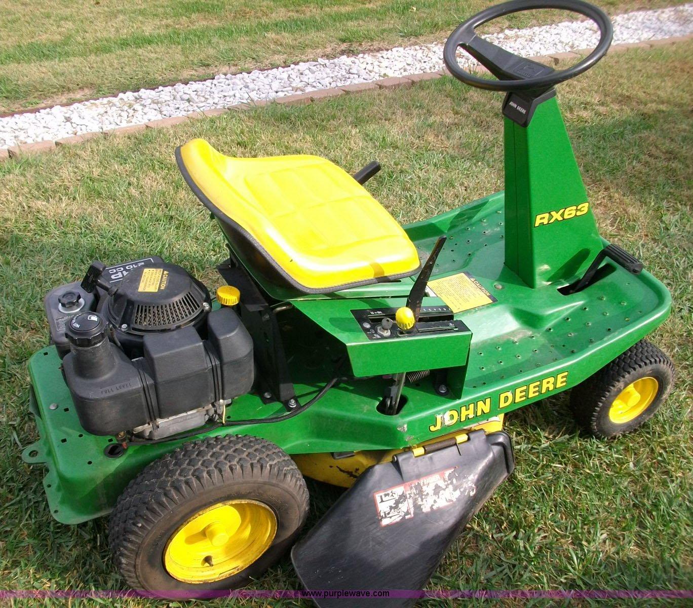 John deere rx63 lawn mower item 1807 sold november 3 for Lawn tractor motors for sale