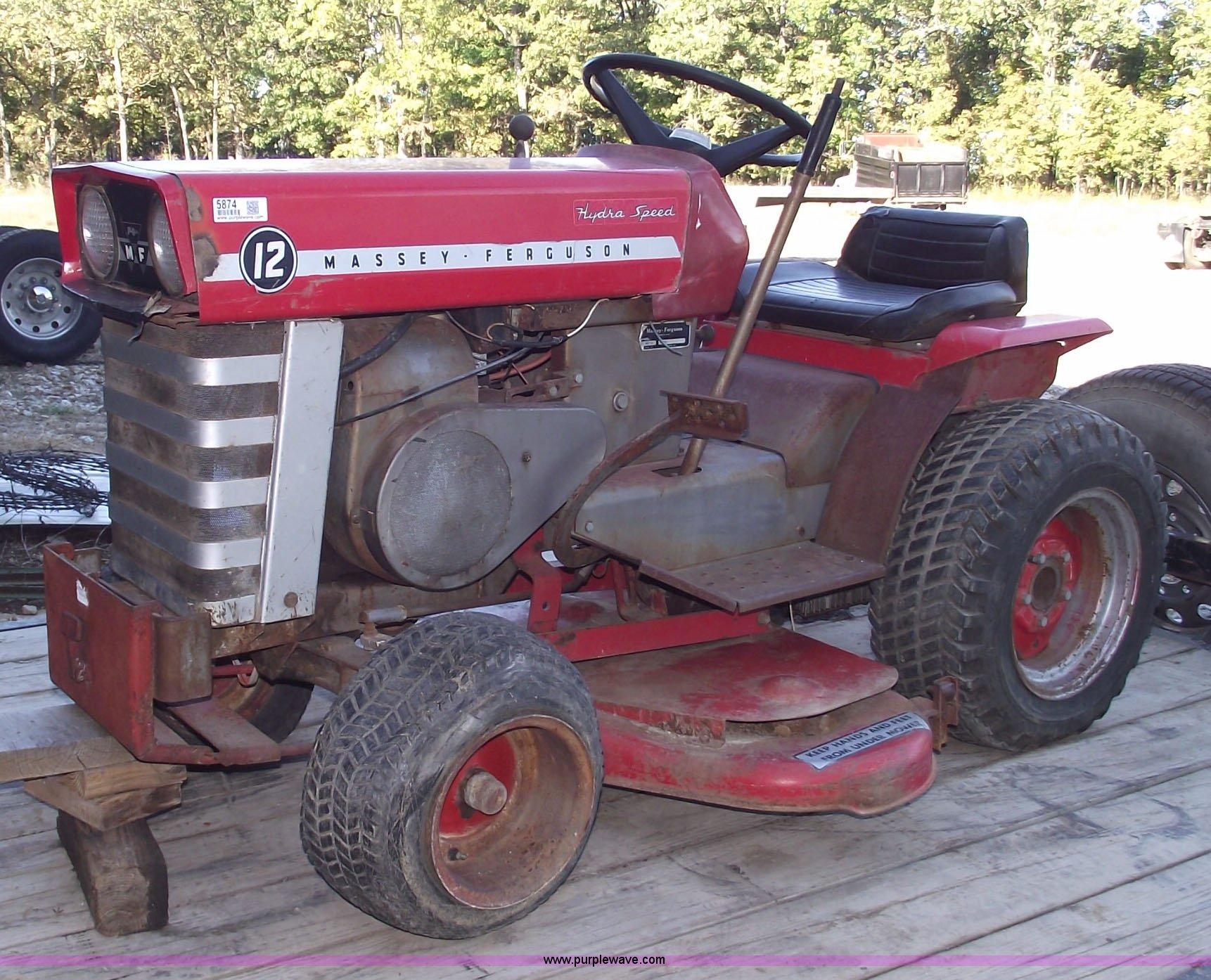 ... Massey-Ferguson Model 12 riding lawn mower Full size in new window ...