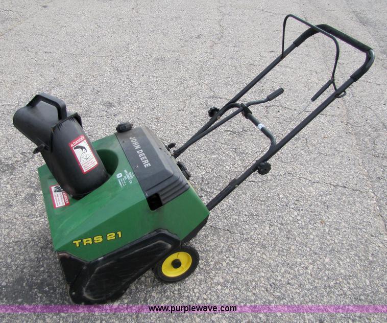[DIAGRAM_38ZD]  John Deere TRS21 snow blower in Salina, KS | Item 5340 sold | Purple Wave | Trs21 Snowblower Parts Fuel Filter |  | Purple Wave