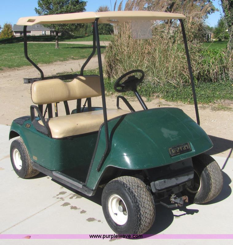 2002 Ez-go electric golf cart | Item 6671 | SOLD! November 1... on old ez go golf cart, ez go golf cart covers, ez go utility carts, 3 wheel ez go golf cart, ez go electric golf cart, ez go golf cart models years, ez go total charger, ez go golf cart tires, ez go golf cart parts, 2002 ez go golf cart, 19 72 ez go 3 wheeled golf cart, ez go golf cart manufacturer, ez go jacobsen golf cart,